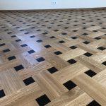 Uniek eiken tapis patroon vloer